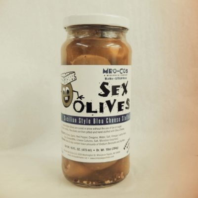 MRO-COS Sex Olives & Pickled Mushrooms